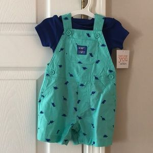 Carter's Matching Sets - Baby Boy 2pc Overalls